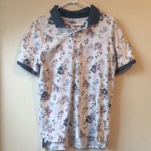 Floral Print Collared Shirt